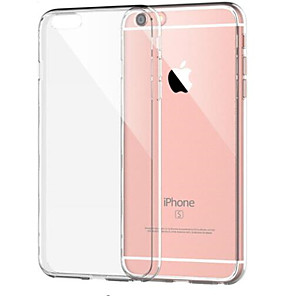 cheap iPhone Cases-Case For Apple iPhone 8 Plus / iPhone 8 / iPhone 7 Plus Shockproof / Transparent Back Cover Solid Colored Soft TPU