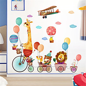 cheap Wall Stickers-Cartoon cute wall stickers animal self-adhesive wallpaper kindergarten wall decoration stickers bedroom bedside children's room stickers