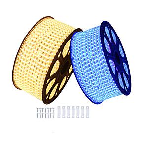 cheap Neon LED Lights-KWB 6m LED Light Strips Waterproof Tiktok Lights 360 LEDs SMD5050 10mm 1Set Mounting Bracket Warm White White Red Cuttable Decorative 220-240 V 1 set