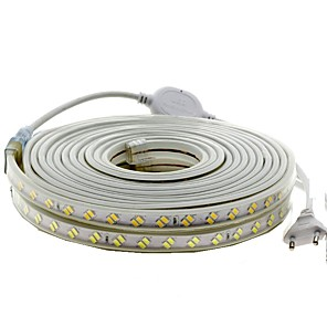 cheap LED Strip Lights-5m LED Light Strips Flexible Tiktok Lights 600 LEDs 5730 SMD 1pc Warm White Cold White Waterproof Cuttable Decorative 220-240 V