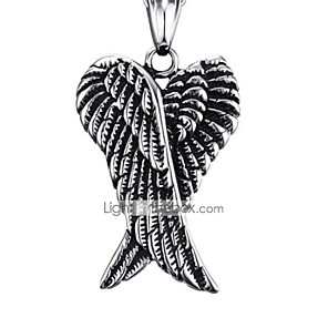 cheap Pendant Necklaces-Men's Pendant Necklace Classic Angel Fashion Stainless Steel Silver 50 cm Necklace Jewelry 1pc For Gift Daily