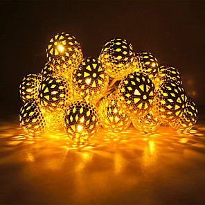 cheap LED String Lights-3m String Lights 20 LEDs Warm White / RGB / White Creative / New Design / Party Batteries Powered
