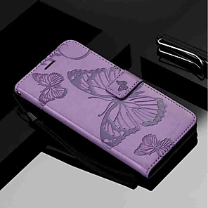 cheap iPhone Screen Protectors-Case For Samsung Galaxy J6 / J6 (2018) / J6 Plus Wallet / Card Holder / with Stand Full Body Cases Butterfly Hard PU Leather