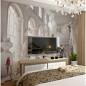 cheap Wallpaper-Wallpaper / Mural / Wall Cloth Canvas Wall Covering - Adhesive required Art Deco / 3D / Animal