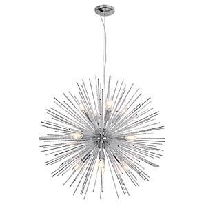 cheap Globe Design-75cm Nordic Style Globe Metal Chandeliers Firework 12-Light Modern Living Room Dining Room Pendant Lights E12/E14 Bulb Base