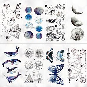 cheap Tattoo Stickers-8 pcs Temporary Tattoos Water Resistant / Best Quality Face / Hand / brachium Tattoo Stickers