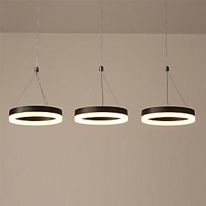 cheap Circle Design-KAKAXI 3-Light 20 cm Multi-shade / Adjustable Chandelier Aluminum Acrylic Circle Painted Finishes LED / Modern 110-120V / 220-240V