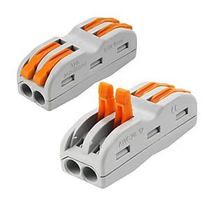 voordelige Lichtschakelaars-ZDM® 2pcs Lampaccessoire / Strip Light Accessory Plastic & Metal Elektrische connector voor LED-stripverlichting