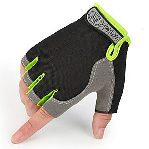 povoljno Motociklističke rukavice-pola prsta unisex rukavice za motocikle netkani / karbonska vlakna otporna na zrak / prozračna / krema za sunčanje