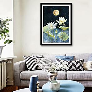 cheap Duvet Cover Sets-Framed Canvas Framed Set - Landscape Floral / Botanical Plastic Illustration Wall Art