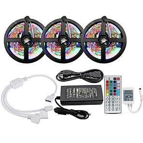cheap LED Strip Lights-KWB 3x5M Light Sets LED Light Strips RGB Tiktok Lights 900 LEDs SMD2835 8mm 1 12V 6A Adapter 44Keys Remote Controller Cuttable Linkable Color Gradient 100-240 V 1 set
