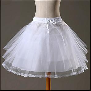 cheap Historical & Vintage Costumes-Maid Costume Ballet Classic Lolita 1950s Dress Petticoat Hoop Skirt Crinoline Women's Girls' Tulle Costume White Vintage Cosplay Wedding Party Princess