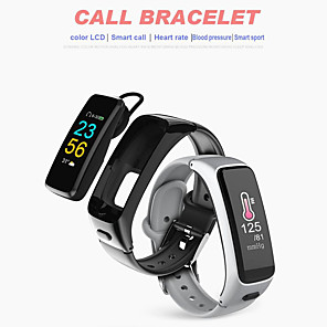 cheap Smart Wristbands-KUPENG V12 Unisex Smart Bracelet Smartwatch Android iOS Bluetooth Smart Sports Heart Rate Monitor Blood Pressure Measurement Touch Screen Pedometer Call Reminder Sleep Tracker Sedentary Reminder Find