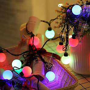 cheap LED String Lights-2x5M 10M 100 LEDs  7 Colors Self-blinking String Lights Can Be Connected In Series High Power LED  Multi Color Creative Party Decorative Garden Yard Decoration lamp 220-240 V 110-120 V 1 set