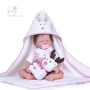 cheap Toy Cars-NPKCOLLECTION 20 inch Reborn Doll Baby Girl Gift Cute Hand Made Cloth 3/4 Silicone Limbs and Cotton Filled Body with Clothes and Accessories for Girls' Birthday and Festival Gifts