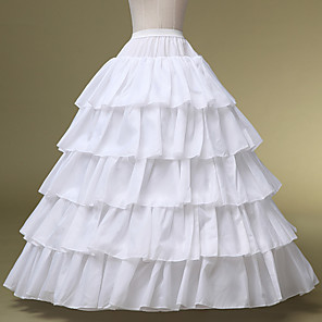 cheap Historical & Vintage Costumes-Bride Classic Lolita 1950s Layered Dress Petticoat Hoop Skirt Crinoline Women's Girls' Costume White Vintage Cosplay Wedding Party Princess