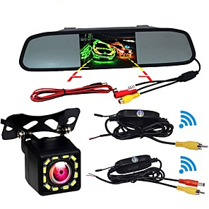 cheap Car Rear View Camera-BYNCG W5 4.3 inch TFT-LCD 480TVL 480 TV-Lines 1/4 inch CMOS OV7950 Wireless 120 Degree 4.3 inch Rear View Camera / Car Reversing Monitor / Head Up Display Waterproof / Night Vision / LCD Screen for