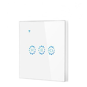 cheap Home Automation & Entertainment-Smart Switch Timing Function / Easy to Use 1pc Toughened Glass / ABS In-Wall WiFi-Enabled / APP Amazon Alexa Echo / Google Assistant