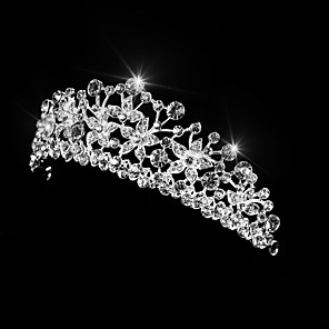 cheap Hair Jewelry-Women's Ladies For Homecoming Royalty Crystal Alloy Silver