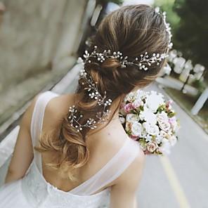 cheap Wedding Wraps-Rhinestone Head Chain with Crystal / Rhinestone 1 pc Wedding Headpiece