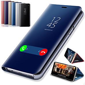 cheap Huawei Case-Smart Mirror Flip Case For Huawei P Smart Plus 2019 P Smart 2019 Case Clear View PU Leather Kickstand Flip Cover for Huawei P Smart Plus P Smart Z Honor 10 Lite Honor 10