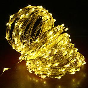 tanie Taśmy świetlne LED-20 m Łańcuchy świetlne 200 Diody LED 1 szt. Ciepła biel RGB Biały Kreatywne Nadaje się do krojenia Impreza 12 V
