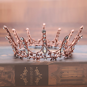 cheap Videogame Cosplay Accessories-Headbands / tiaras / crown Hair Accessories Alloy Wigs Accessories Women's 1 pcs pcs 13cm(Approx5inch) cm School / Quinceañera & Sweet Sixteen / Festival Headpieces Kids / Teen / Generic / Youth