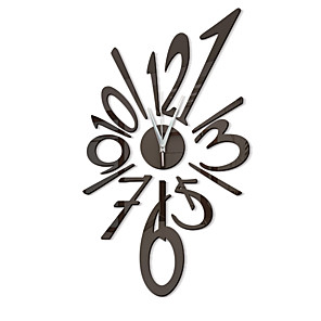 cheap Wall Stickers-Modern Contemporary / Fashion Acrylic Irregular Classic Theme Indoor Battery Decoration Wall Clock Digital Specification No