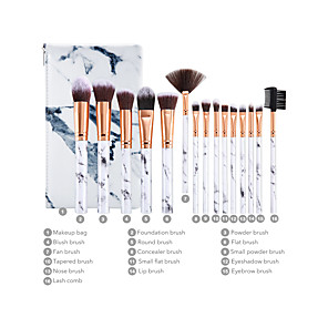 cheap Makeup Brush Sets-Professional Makeup Brushes 15pcs New Design Plastic for Makeup Brush