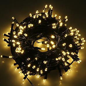 tanie Taśmy świetlne LED-5 m Łańcuchy świetlne 20 Diody LED 1 Zestaw wspornika montażowego 1 zestaw Ciepła biel Zimna biel RGB Wodoodporny Na energię słoneczną Impreza Zasilanie solarne