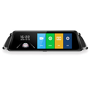 cheap Car DVR-1080p HD /Night Vision Car DVR Full Touch Screen 10 Inch Streaming Media Wide Angle IPS Dash Cam with WIFI / G-Sensor / Parking Monitoring Car Recorder