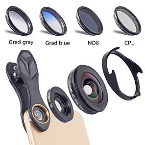 cheap Smartphone Camera Lenses-Mobile Phone Lens Lens with Filter / Wide-Angle Lens / Macro Lens Glasses / Aluminium Alloy 10X Macro 40 mm 0.16 m 110 ° Creative / New Design / Cool