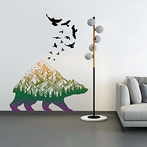 cheap Wall Stickers-Landscape / Animals Wall Stickers Animal Wall Stickers Decorative Wall Stickers, PVC Home Decoration Wall Decal Wall Decoration 1pc