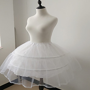 cheap Historical & Vintage Costumes-Ballet Classic Lolita 1950s Dress Petticoat Hoop Skirt Tutu Crinoline Women's Girls' Costume Black / White Vintage Cosplay Tulle Party Performance Princess