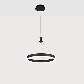cheap Pendant Lights-1-Light KAKAXI 30/40/60 cm Multi-shade / Adjustable Chandelier Aluminum Acrylic Circle Anodized LED / Modern 110-120V / 220-240V