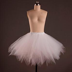 cheap Historical & Vintage Costumes-Ballet Classic Lolita 1950s Dress Petticoat Hoop Skirt Tutu Crinoline Women's Girls' Tulle Costume Black / White / Sky Blue Vintage Cosplay Party Performance Princess