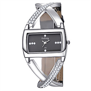 cheap Quartz Watches-Women's Quartz Watches Square Watch Fashion Elegant Black PU Leather Quartz White Black Casual Watch 1 pc Analog One Year Battery Life / Stainless Steel
