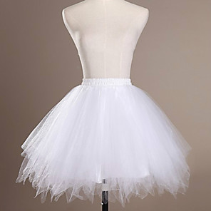cheap Dolls Accessories-Ballet Classic Lolita 1950s Dress Petticoat Hoop Skirt Crinoline Women's Girls' Tulle Costume Black / White / Sky Blue Vintage Cosplay Wedding Party Princess
