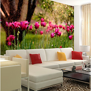 cheap Wallpaper-Wallpaper / Mural / Wall Cloth Canvas Wall Covering - Adhesive required Floral / Art Deco / 3D