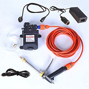 cheap Vehicle Cleaning Tools-Car Washer Portable Electric 220v Turn 12V Adapter Model Double Pump High Pressure Water Gun