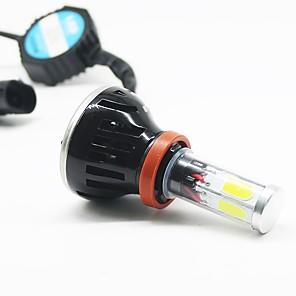 cheap Car Headlights-2pcs H7 / H4 / H3 Car Light Bulbs 25 W COB 8000 lm 2 LED Fog Lights / Headlamps For All years