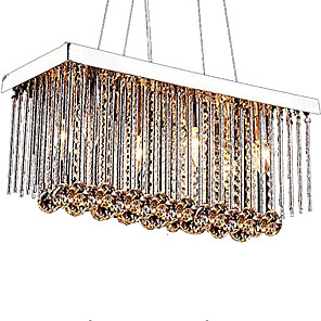 cheap Pendant Lights-6-Light 20 cm Crystal Chandelier Metal Crystal Chrome Modern Contemporary 110-120V / 220-240V