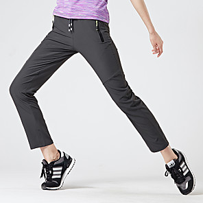 cheap Hiking Trousers & Shorts-Women's Hiking Pants Summer Outdoor Waterproof UV Resistant Breathable Quick Dry Pants / Trousers Bottoms Violet Black Army Green Dark Gray Dark Blue Fishing Climbing Camping / Hiking / Caving M L XL