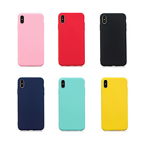 cheap iPhone Cases-Case For Apple iPhone XR / iPhone XS Max Ultra-thin Back Cover Solid Colored Soft TPU for iPhone 6/6S / iPhone 6/6S Plus / iPhone 7/8 / iPhone 7/8 Plus / Iphone X/XS / iPhone XR / iPhone XS Max