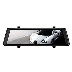cheap Car DVR-A900C 1080p HD / Dual Lens Car DVR Wide Angle 10.1 inch Capacitive Screen / IPS Dash Cam with G-Sensor / motion detection / Loop recording Car Recorder