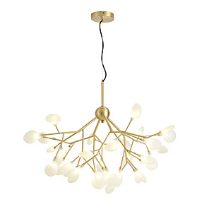 cheap Globe Design-45-Light ZHISHU 92 cm Chandelier Copper Glass Sputnik / Industrial Brass Nature Inspired / Chic & Modern 110-120V / 220-240V