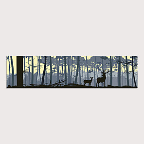 cheap Framed Arts-Print Rolled Canvas Prints - Landscape Animals Modern Art Prints