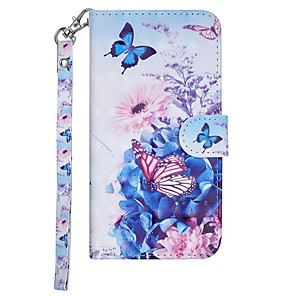 cheap Other Phone Case-Case For Nokia Nokia 7.1 / Nokia 6 2018 / Nokia 5 Wallet / Card Holder / with Stand Full Body Cases Butterfly / Flower Hard PU Leather