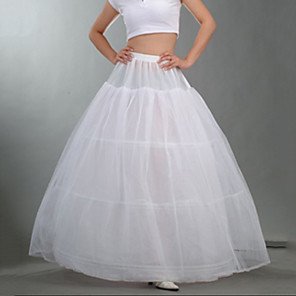 cheap Wedding Slips-Bride Classic Lolita 1950s Dress Petticoat Hoop Skirt Tutu Crinoline Women's Girls' Tulle Costume White Vintage Cosplay Party Performance Maxi Princess