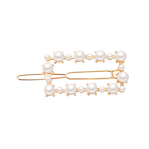 cheap Hair Jewelry-Women's Ladies Work Fashion Elegant Imitation Pearl Alloy Solid Colored